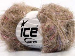 Lot of 8 Skeins Ice Yarns SALE EYELASH BLEND Yarn Camel Pink Lilac