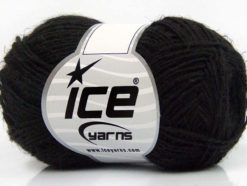 Lot of 8 Skeins Ice Yarns SALE SUMMER (90% Tencel 10% Linen) Yarn Black
