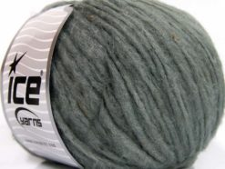 Lot of 8 Skeins Ice Yarns SOFTAIR TWEED (4% Viscose) Hand Knitting Yarn Grey