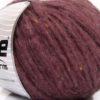 Lot of 8 Skeins Ice Yarns SOFTAIR TWEED (4% Viscose) Yarn Light Maroon