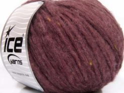 Lot of 8 Skeins Ice Yarns SOFTAIR TWEED (4% Viscose) Yarn Light Maroon