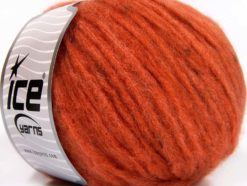 Lot of 8 Skeins Ice Yarns SOFTAIR TWEED (4% Viscose) Hand Knitting Yarn Orange
