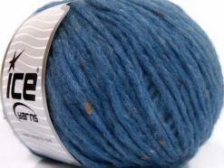 Lot of 8 Skeins Ice Yarns SOFTAIR TWEED (4% Viscose) Yarn Dark Blue