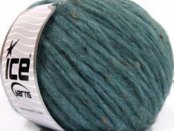 Lot of 8 Skeins Ice Yarns SOFTAIR TWEED (4% Viscose) Yarn Dark Turquoise