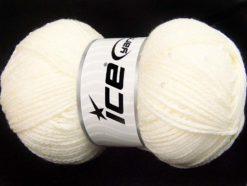 Lot of 4 x 100gr Skeins Ice Yarns CHAIN PAILLETTE (2% Paillette) Yarn Ecru