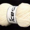 Lot of 4 x 100gr Skeins Ice Yarns CHAIN PAILLETTE (2% Paillette) Yarn Cream