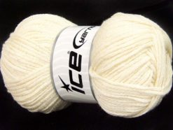 Lot of 4 x 100gr Skeins Ice Yarns CHAIN PAILLETTE (2% Paillette) Yarn Cream