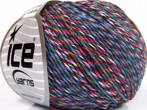 Lot of 8 Skeins Ice Yarns LORENA COLORFUL (55% Cotton) Yarn Grey Blue Lilac Pink Orange White