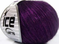 Lot of 8 Skeins Ice Yarns ROCK STAR (19% Merino Wool) Hand Knitting Yarn Purple