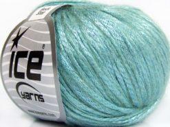 Lot of 8 Skeins Ice Yarns ROCK STAR (19% Merino Wool) Yarn Mint Green