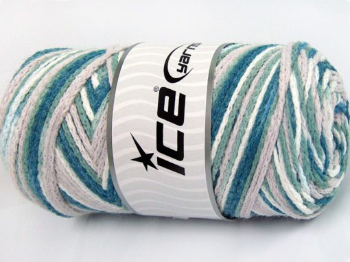 Lot of 2 x 200gr Skeins Ice Yarns SAVER CHAIN COLOR Yarn Teal Khaki Beige White