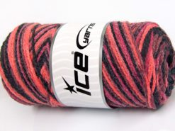 Lot of 2 x 200gr Skeins Ice Yarns SAVER CHAIN COLOR Yarn Orchid Salmon Black Pink