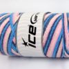 Lot of 2 x 200gr Skeins Ice Yarns SAVER CHAIN COLOR Yarn Blue Shades Pink Shades