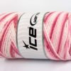 Lot of 2 x 200gr Skeins Ice Yarns SAVER CHAIN COLOR Yarn Pink Shades White