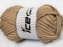 250 gr ICE YARNS TUBE COTTON JUMBO (40% Cotton) Hand Knitting Yarn Light Camel
