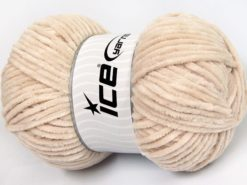 Lot of 4 x 100gr Skeins Ice Yarns CHENILLE BABY LIGHT (100% MicroFiber) Yarn Beige
