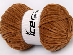 Lot of 4 x 100gr Skeins Ice Yarns CHENILLE BABY LIGHT (100% MicroFiber) Yarn Light Brown