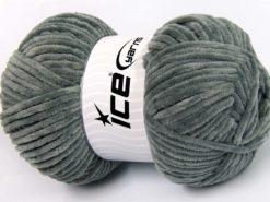 Lot of 4 x 100gr Skeins Ice Yarns CHENILLE BABY LIGHT (100% MicroFiber) Yarn Grey
