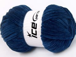 Lot of 4 x 100gr Skeins Ice Yarns CHENILLE BABY LIGHT (100% MicroFiber) Yarn Navy