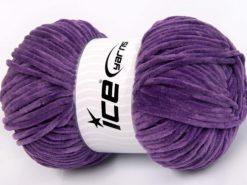 Lot of 4 x 100gr Skeins Ice Yarns CHENILLE BABY LIGHT (100% MicroFiber) Yarn Lavender