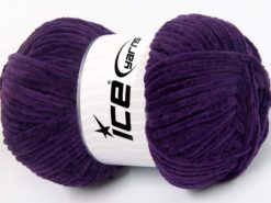 Lot of 4 x 100gr Skeins Ice Yarns CHENILLE BABY LIGHT (100% MicroFiber) Yarn Purple
