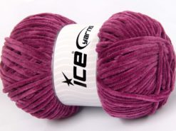 Lot of 4 x 100gr Skeins Ice Yarns CHENILLE BABY LIGHT (100% MicroFiber) Yarn Orchid