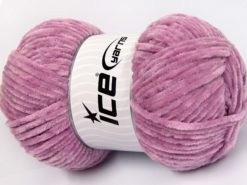 Lot of 4 x 100gr Skeins Ice Yarns CHENILLE BABY LIGHT (100% MicroFiber) Yarn Lilac