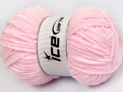 Lot of 4 x 100gr Skeins Ice Yarns CHENILLE BABY LIGHT (100% MicroFiber) Yarn Light Pink