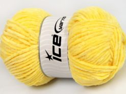 Lot of 4 x 100gr Skeins Ice Yarns CHENILLE BABY LIGHT (100% MicroFiber) Yarn Yellow