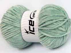 Lot of 4 x 100gr Skeins Ice Yarns CHENILLE BABY LIGHT (100% MicroFiber) Yarn Mint Green