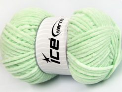 Lot of 4 x 100gr Skeins Ice Yarns CHENILLE BABY LIGHT (100% MicroFiber) Yarn Baby Green