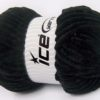 Lot of 2 x 200gr Skeins Ice Yarns CHENILLE SUPERBULKY (100% MicroFiber) Yarn Black