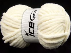 Lot of 2 x 200gr Skeins Ice Yarns CHENILLE SUPERBULKY (100% MicroFiber) Yarn Cream
