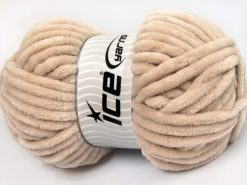 Lot of 2 x 200gr Skeins Ice Yarns CHENILLE SUPERBULKY (100% MicroFiber) Yarn Beige