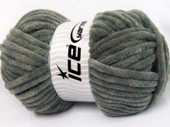 Lot of 2 x 200gr Skeins Ice Yarns CHENILLE SUPERBULKY (100% MicroFiber) Yarn Grey