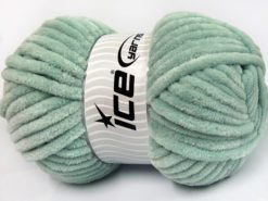 Lot of 2 x 200gr Skeins Ice Yarns CHENILLE SUPERBULKY (100% MicroFiber) Yarn Mint Green