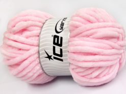 Lot of 2 x 200gr Skeins Ice Yarns CHENILLE SUPERBULKY (100% MicroFiber) Yarn Baby Pink