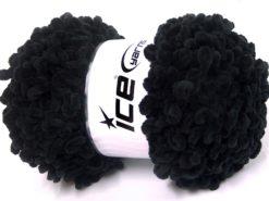 Lot of 4 x 100gr Skeins Ice Yarns CHENILLE LOOP (100% MicroFiber) Yarn Black