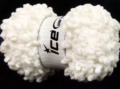 Lot of 4 x 100gr Skeins Ice Yarns CHENILLE LOOP (100% MicroFiber) Yarn White