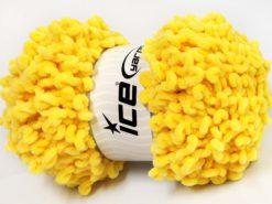 Lot of 4 x 100gr Skeins Ice Yarns CHENILLE LOOP (100% MicroFiber) Yarn Yellow