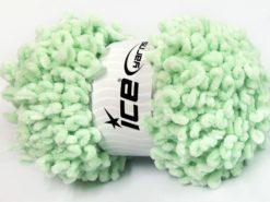 Lot of 4 x 100gr Skeins Ice Yarns CHENILLE LOOP (100% MicroFiber) Yarn Mint Green