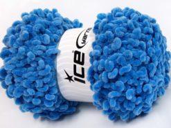 Lot of 4 x 100gr Skeins Ice Yarns CHENILLE LOOP (100% MicroFiber) Yarn Blue