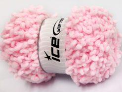 Lot of 4 x 100gr Skeins Ice Yarns CHENILLE LOOP (100% MicroFiber) Yarn Baby Pink