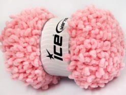 Lot of 4 x 100gr Skeins Ice Yarns CHENILLE LOOP (100% MicroFiber) Yarn Light Pink