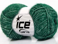 Lot of 8 Skeins Ice Yarns DENIM (80% Cotton) Hand Knitting Yarn Dark Green
