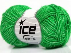 Lot of 8 Skeins Ice Yarns DENIM (80% Cotton) Hand Knitting Yarn Green