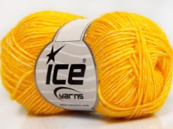 Lot of 8 Skeins Ice Yarns DENIM (80% Cotton) Hand Knitting Yarn Yellow