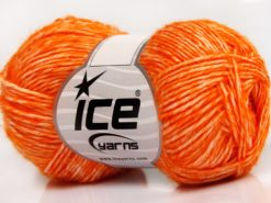 Lot of 8 Skeins Ice Yarns DENIM (80% Cotton) Hand Knitting Yarn Orange