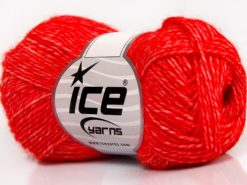Lot of 8 Skeins Ice Yarns DENIM (80% Cotton) Hand Knitting Yarn Red