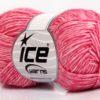 Lot of 8 Skeins Ice Yarns DENIM (80% Cotton) Hand Knitting Yarn Pink